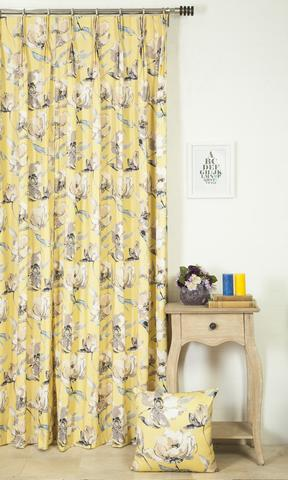 Soft Yellow Curtains